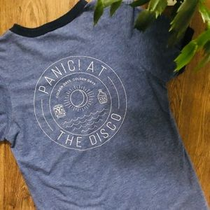 Tops - PANIC! AT THE DISCO Golden Days Band Ringer Tee